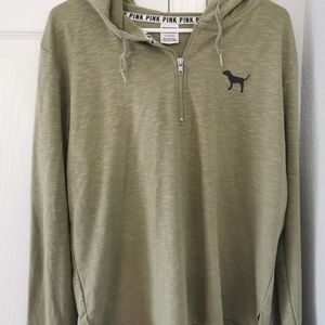 Size large victoria Secret pink green hoodie